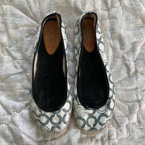 Coach Espadrille Shoes, Logo Design, Size 11